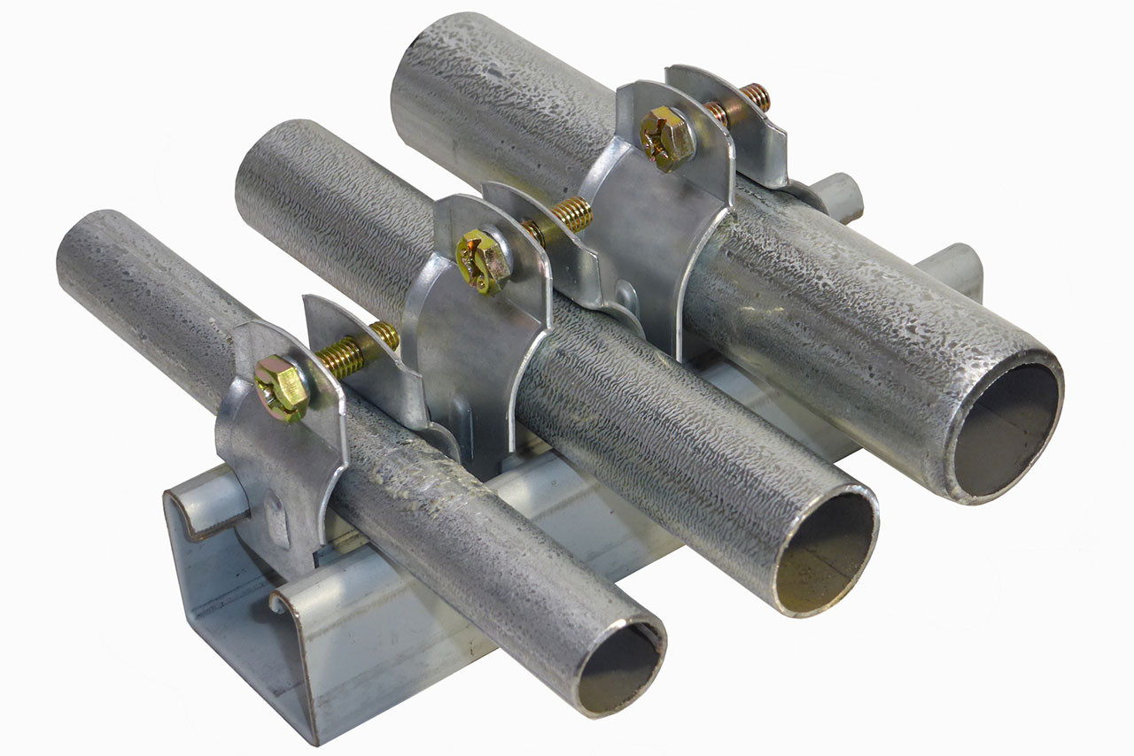Inch clamps bag of a rise pipe support