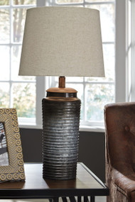 Norbert Gray Metal Table Lamp (2/CN)