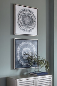 Monterey Blue/White Wall Art Set (2/CN)