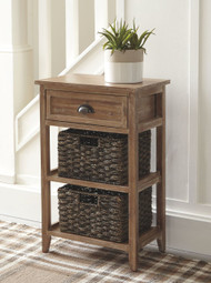 Oslember Light Brown Accent Table