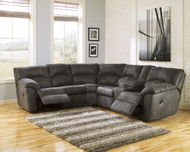Tambo Pewter Left Arm Facing Reclining Loveseat & Right Arm Facing Reclining Loveseat