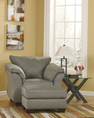 Darcy Cobblestone Chair with Ottoman