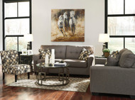 Tibbee Slate Sofa, Loveseat & Accent Chair