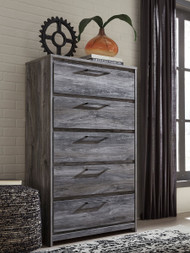 Baystorm Gray Five Drawer Chest