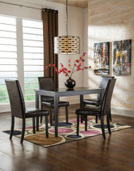 Kimonte 5 Pc. Rectangular Dining Room Table & 4 Upholstered Side Chairs
