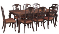 Gladdenville Brown 9 Pc. Rectangular Dining Room Extension Table & 8 Upholstered Side Chairs