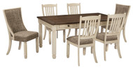 Bolanburg Antique White 7 Pc. Rectangular Dining Room Table, 4 Side Chairs & 2 Upholstered Side Chairs