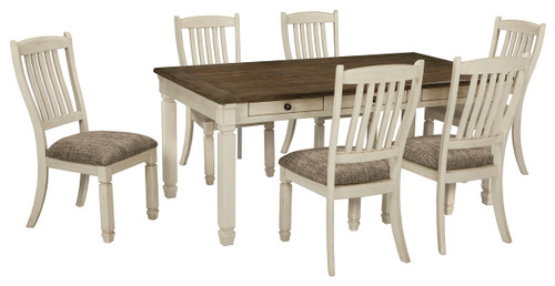 Image 1 - The Bolanburg Antique White 7 Pc. Reclining Dining Room Table & 6