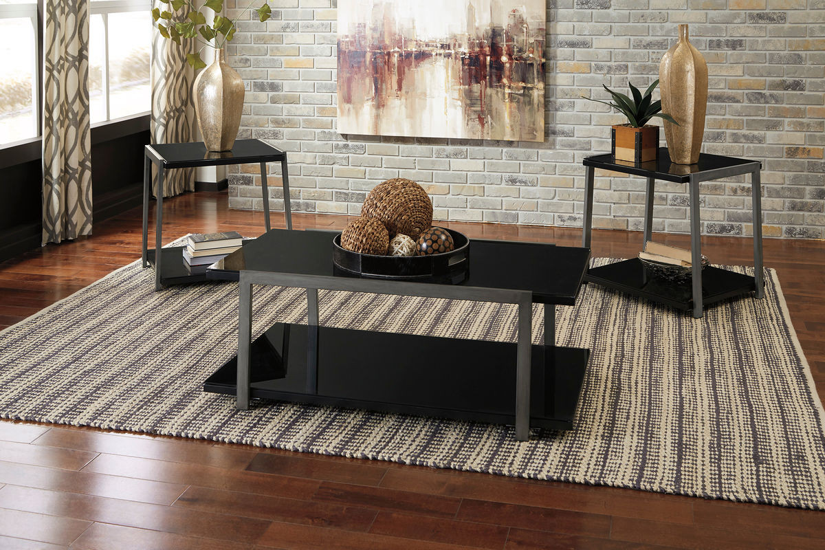 ... Rollynx Black Occasional Table Set. Image 1