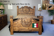Antique King Bed with Fleur-de-lis