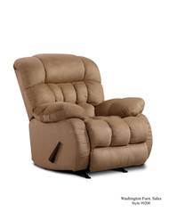 Plush Taupe Rocker Recliner