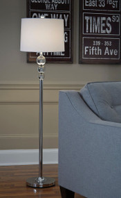 Joaquin Clear/Chrome Finish Crystal Floor Lamp