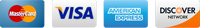 Mastercard Visa Discover and American Express