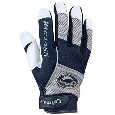 Caiman® White Goatskin Leather Mechanics Gloves