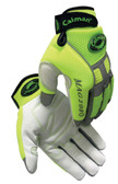 Caiman® Hi-Visibility Goatskin Leather Mechanics Gloves  ##2980 ##
