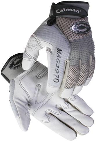 Caiman® Gray Deerskin Leather Mechanics Gloves  ##2970 ##