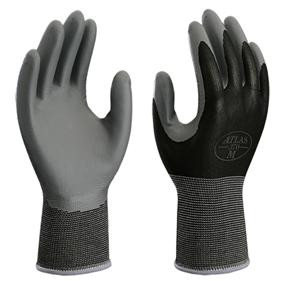 ATLAS® Nitrile Tough® Palm Coated Nylon Gloves  ##370BLK ##
