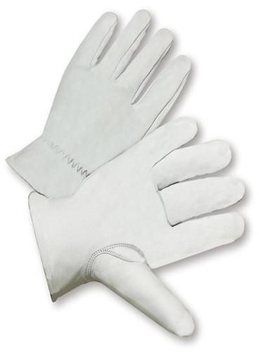 Goatskin Top Grain Leather Work Gloves  ##6827 ##