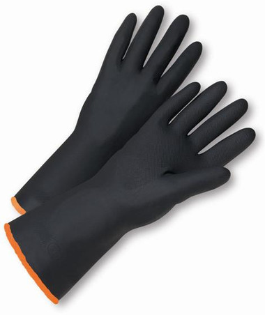 "18"" Heavy Duty Unlined Natural Rubber Gloves  ##2848 ##"