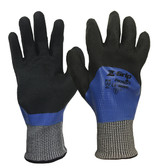 Z-GRIP® FULLY NITRILE COATED, ANSI CUT A4, DOUBLE NITRILE BACK COATED GLOVES  ## 4925 ##
