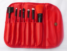 7 Piece Brush Set - Autumn - Red