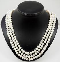 Elegant 3 String Cultured Peal Necklace