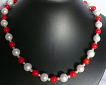 Stunning Cultured Pearl and Coral Necklace