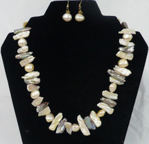 Mixed Colour Cultured Pearl Necklace
