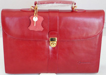 Red Leather Brief Case