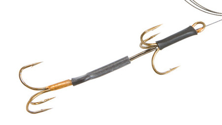 Keens Tackle and Guns Stock The 30 Plus Twin Treble Pike Fishing Rig with Patented Floating Crimp and 20lb breaking strain.