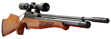 Keen's Tackle & Guns Stock The Air Arms S400 Beech Air Rifle with single-shot precision and traditional bolt action.