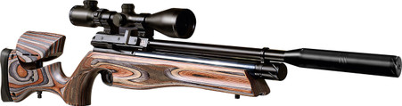 "Keen's Tackle & Guns Stock The Air Arms S510 Ultimate Sporter Laminated Air Rifle with a carbine barrel lemgth of 15.5""."