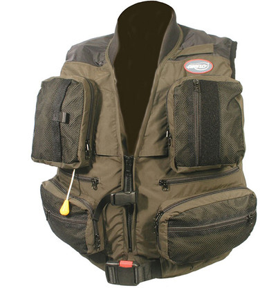 Keen's Tackle & Guns Stock the Airflo Wavehopper Automatic Inflatable Fly Vest ideal for large salmon rivers or boat fishing.