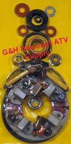 87-89 Honda TRX 350D Fourtrax FOUR BRUSH Starter Rebuild Kit (Long Shaft) *FREE U.S. SHIPPING*