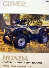 Honda Atv TRX 400 Foreman Fourtrax CLYMER Repair Manual