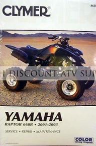 2001-2003 Yamaha YFM 660 Raptor CLYMER Service Repair Manual *FREE U.S. SHIPPING*