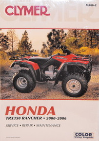 Honda TRX350 Rancher CLYMER Repair Manual *FREE U.S. SHIPPING*