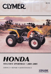Honda Atv TRX250EX 250 Sportrax CLYMER Repair Manual *FREE U.S. SHIPPING*