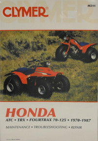Honda ATC TRX 70 125 Fourtrax CLYMER Repair Manual *FREE U.S. SHIPPING*