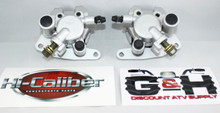 New 2003-2008 Yamaha YFM 660 Grizzly Front Left & Right Brake Calipers with Pads *FREE US SHIPPING*