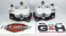 NEW 2008-2013 Yamaha YXR 700 Rhino Front Left & Right Brake Calipers & Pads +Decals *FREE US SHIPPING*