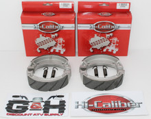 2 Sets WATER GROOVED FRONT BRAKE SHOES & SPRINGS 2005-2008 Yamaha YFM 80 Grizzly
