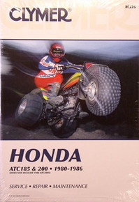 Honda Atc 200 200X 200E 200ES Big Red Repair Manual