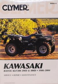 Kawasaki Bayou KLF300 2WD 4WD CLYMER Repair Manual