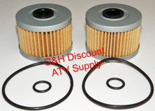 TWO OIL FILTERS WITH O-RINGS 1987-1992 Honda TRX250X *FREE U.S. SHIPPING*