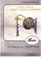 lone Star post hole Digger Owners manual parts List Used 4 pages