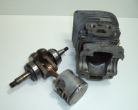 Husqvarna 455 Piston Crank and cylinder ( no ring) Good used