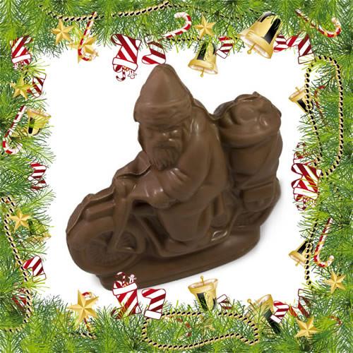 Chocolate Biker Santa