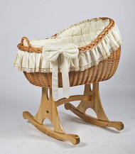 MJ Mark Bianca Uno - Antique Cream - Rocker - Wicker Crib