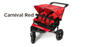 Out 'n' About Nipper Double V4 Buggy - Carnival Red